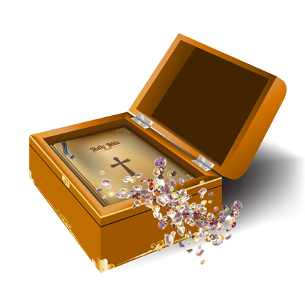 bible in treasure chest hires with gems