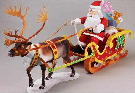 santa claus riding a sleigh